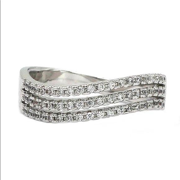 Ocean Fashion Jewelry - Fashion silver crystal ring